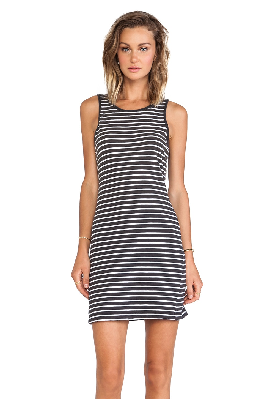 Current/Elliott The Louella Tank Dress in Black & White