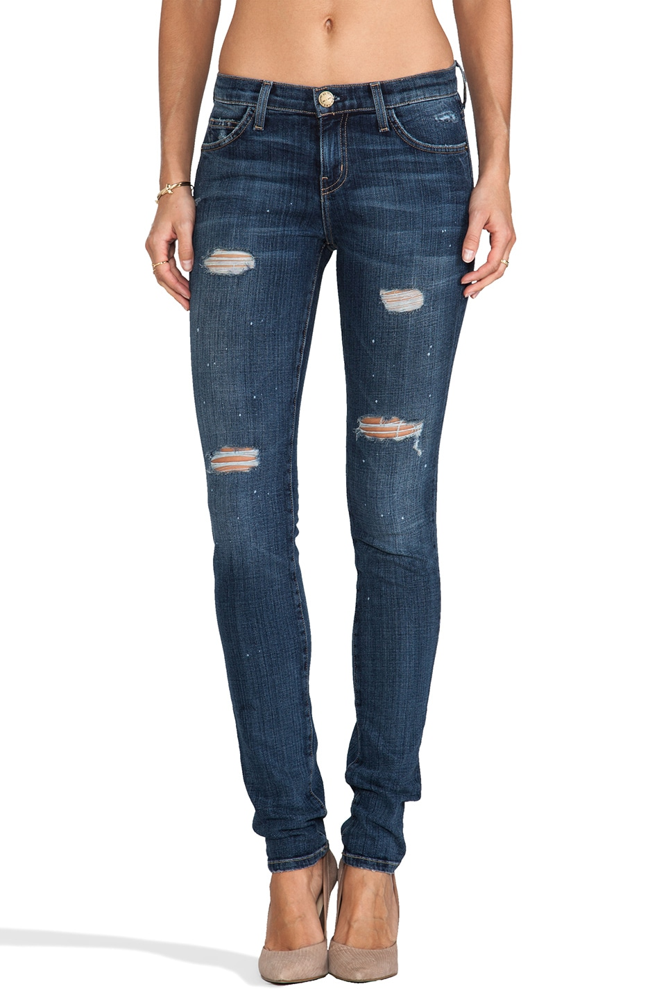 Current/Elliott Skinny Jean in Loved Destroy