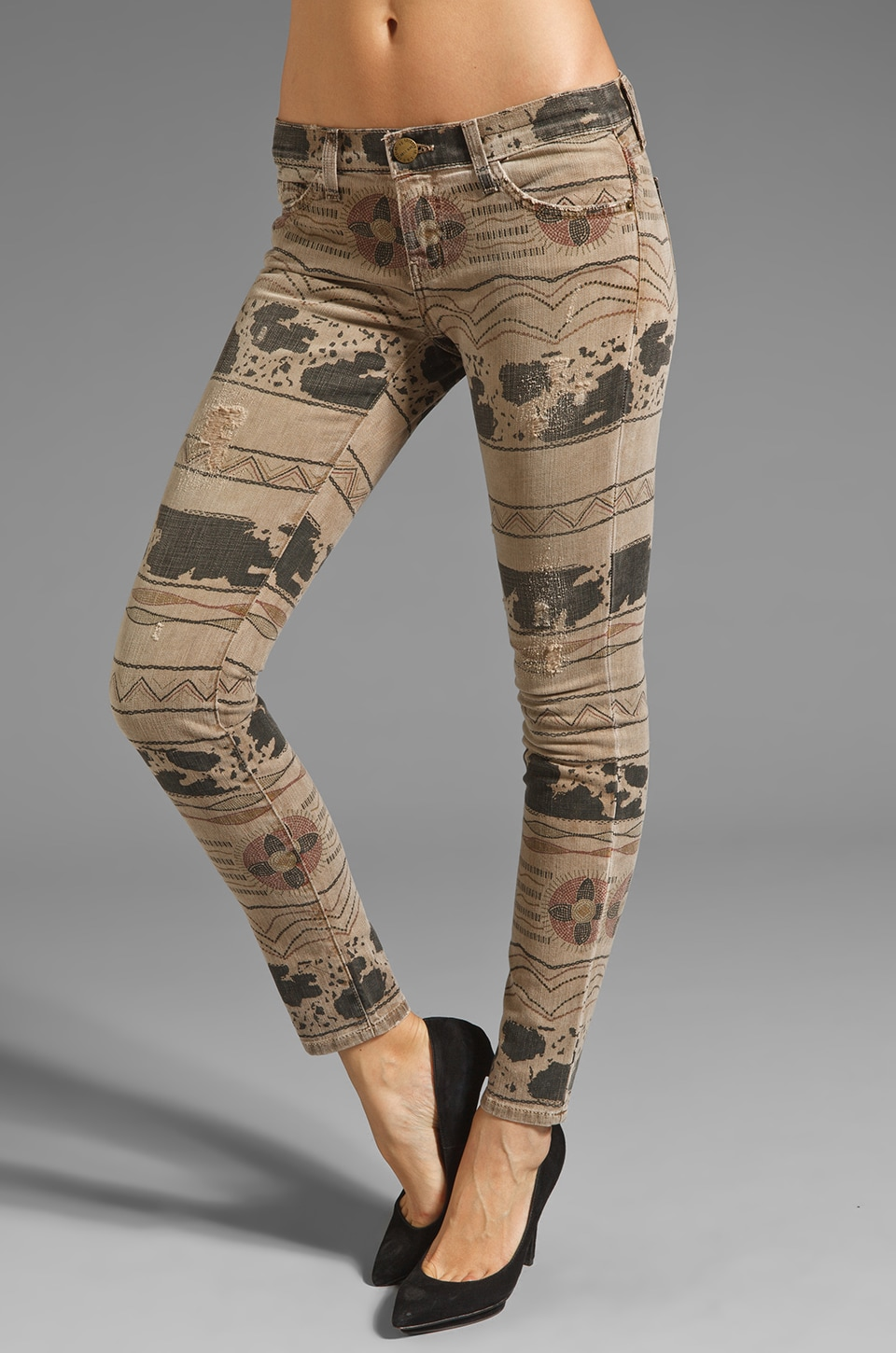 Current/Elliott Ankle Skinny in Vintage Tribal Destroy