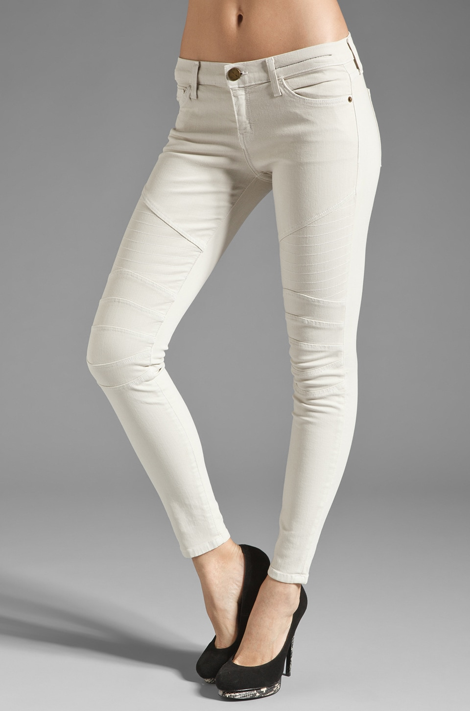 Current/Elliott Jean Skinny Motard 7/8 en Dove