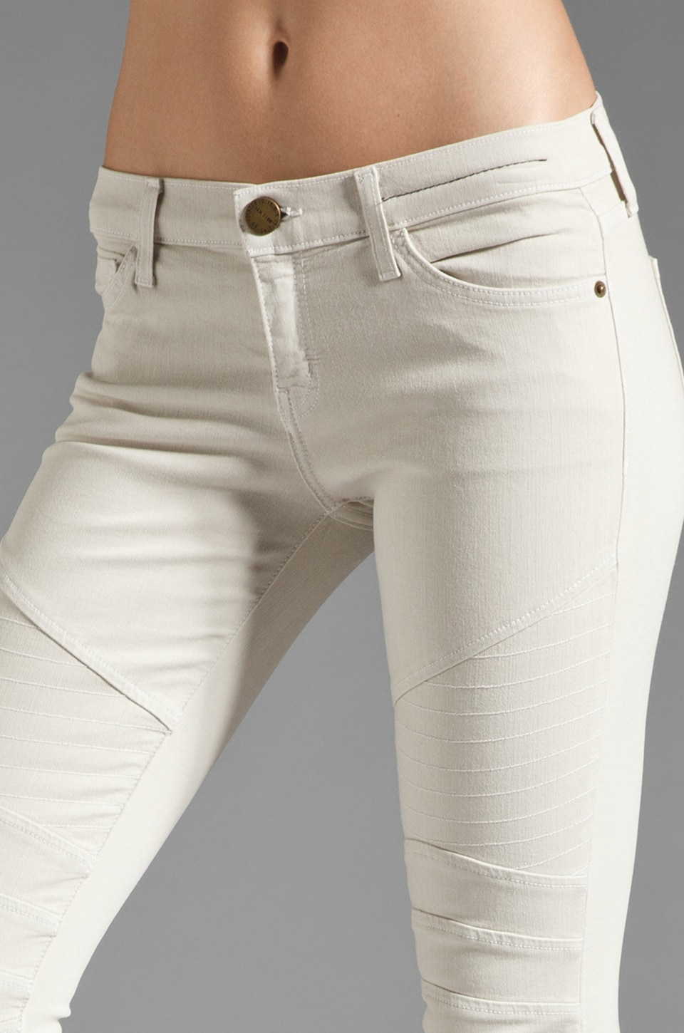 Current/Elliott The Moto Ankle Skinny in Dove