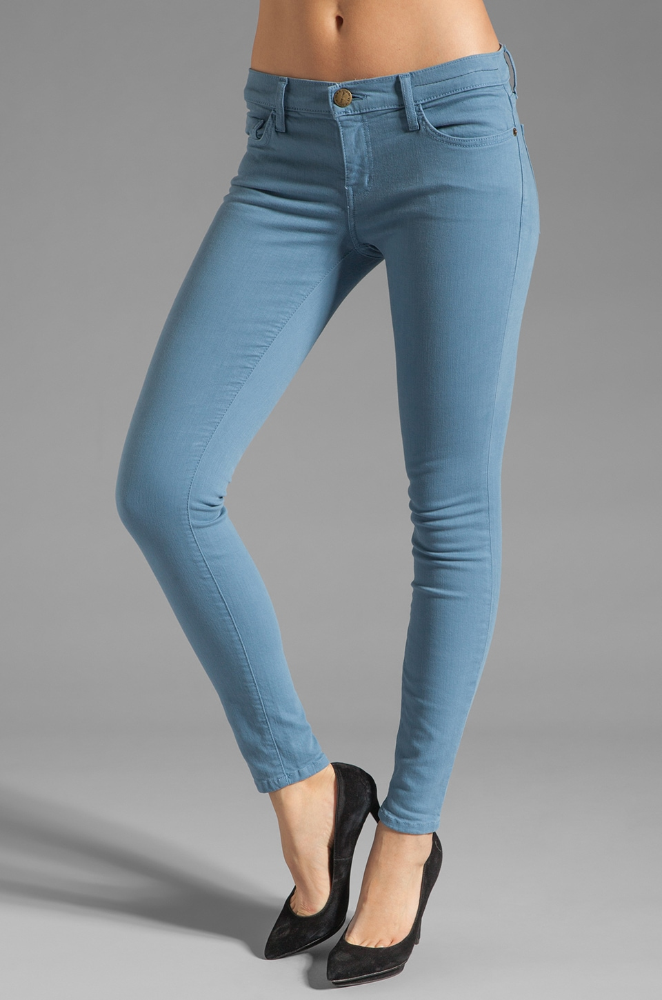 Current/Elliott The Ankle Skinny en Ombre Bleue