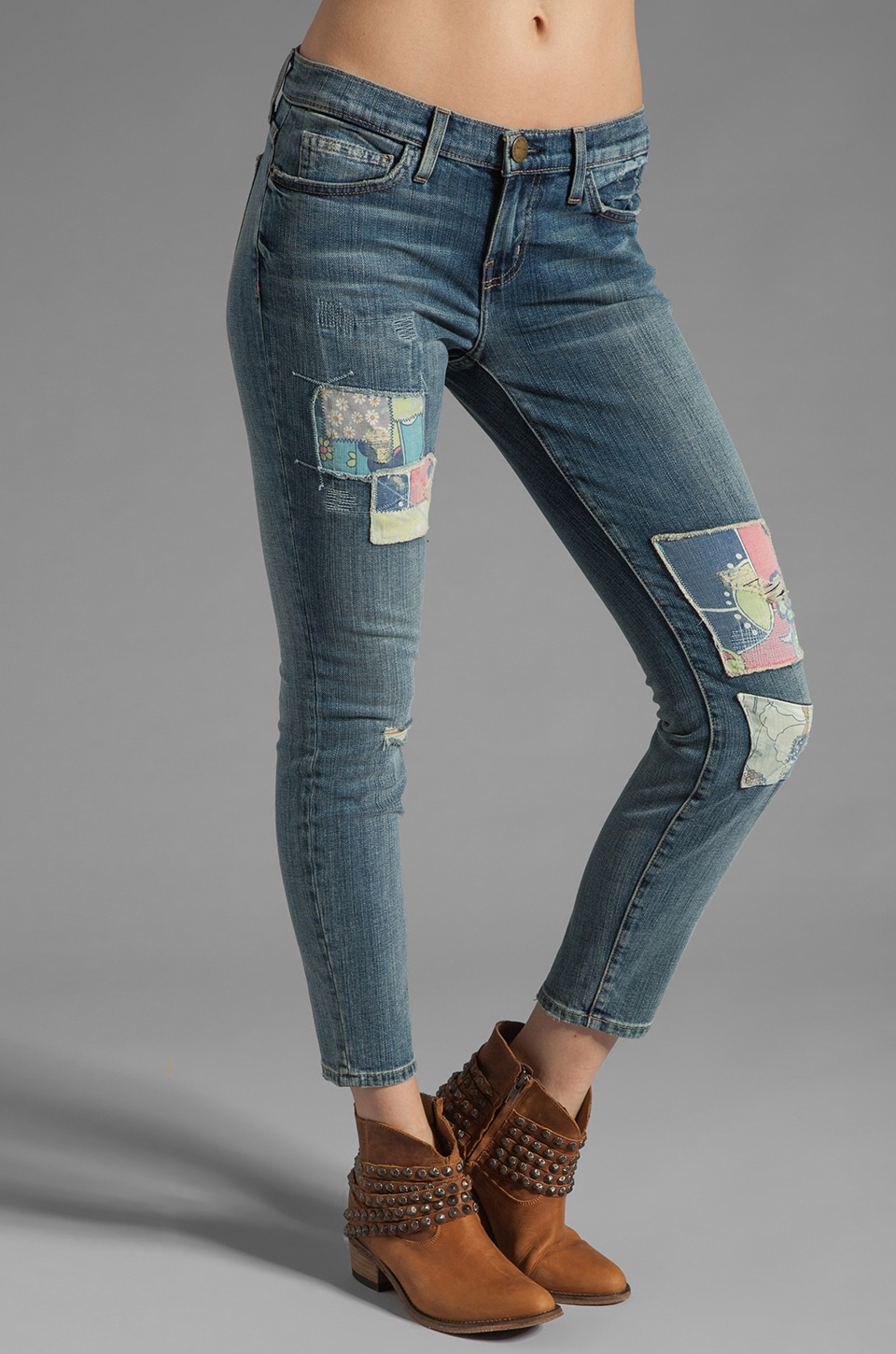 Current/Elliott The Stiletto in Hippie Patchwork Destroy