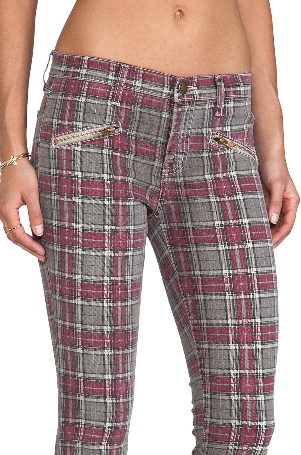 Current/Elliott Soho Zip in Red Plaid