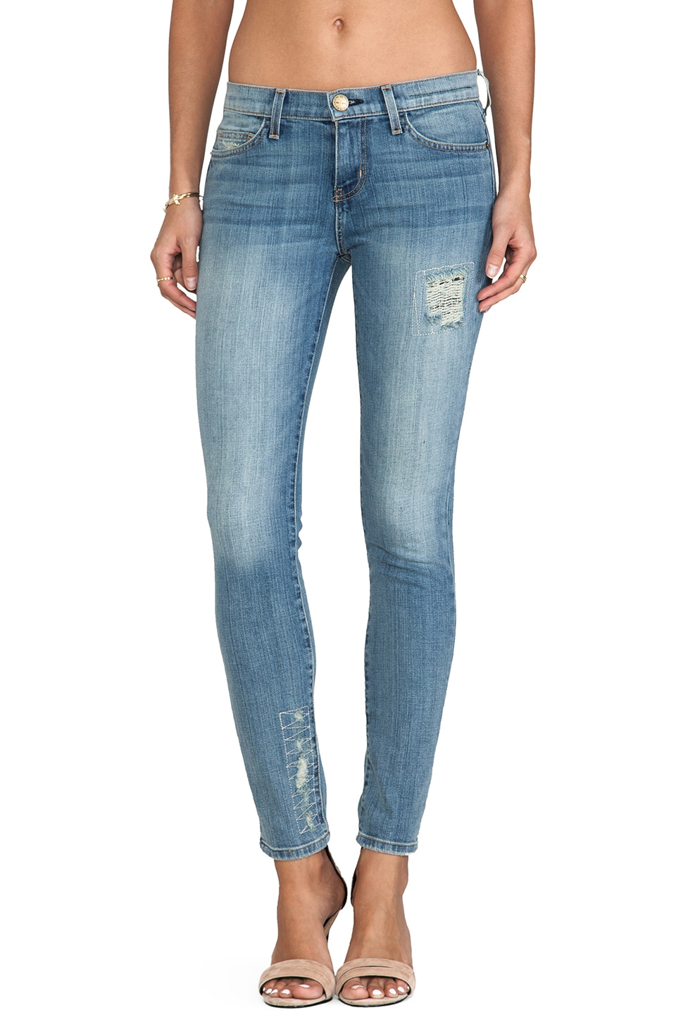 Current/Elliott The Ankle Skinny in Super Loved Repair