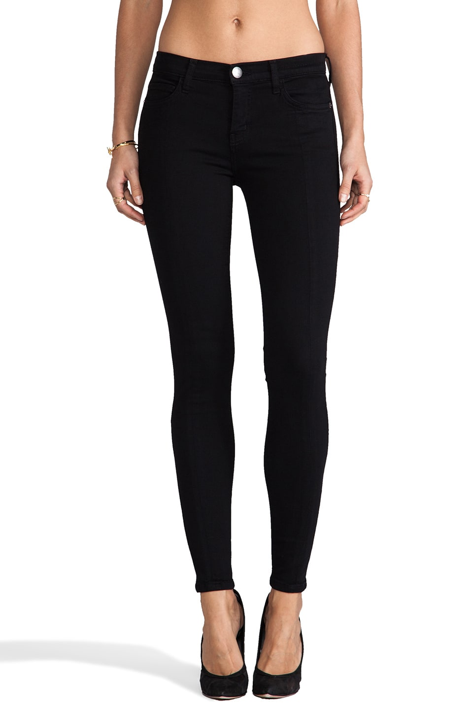 Current/Elliott Jean 7/8 coutures usées en Jet Black