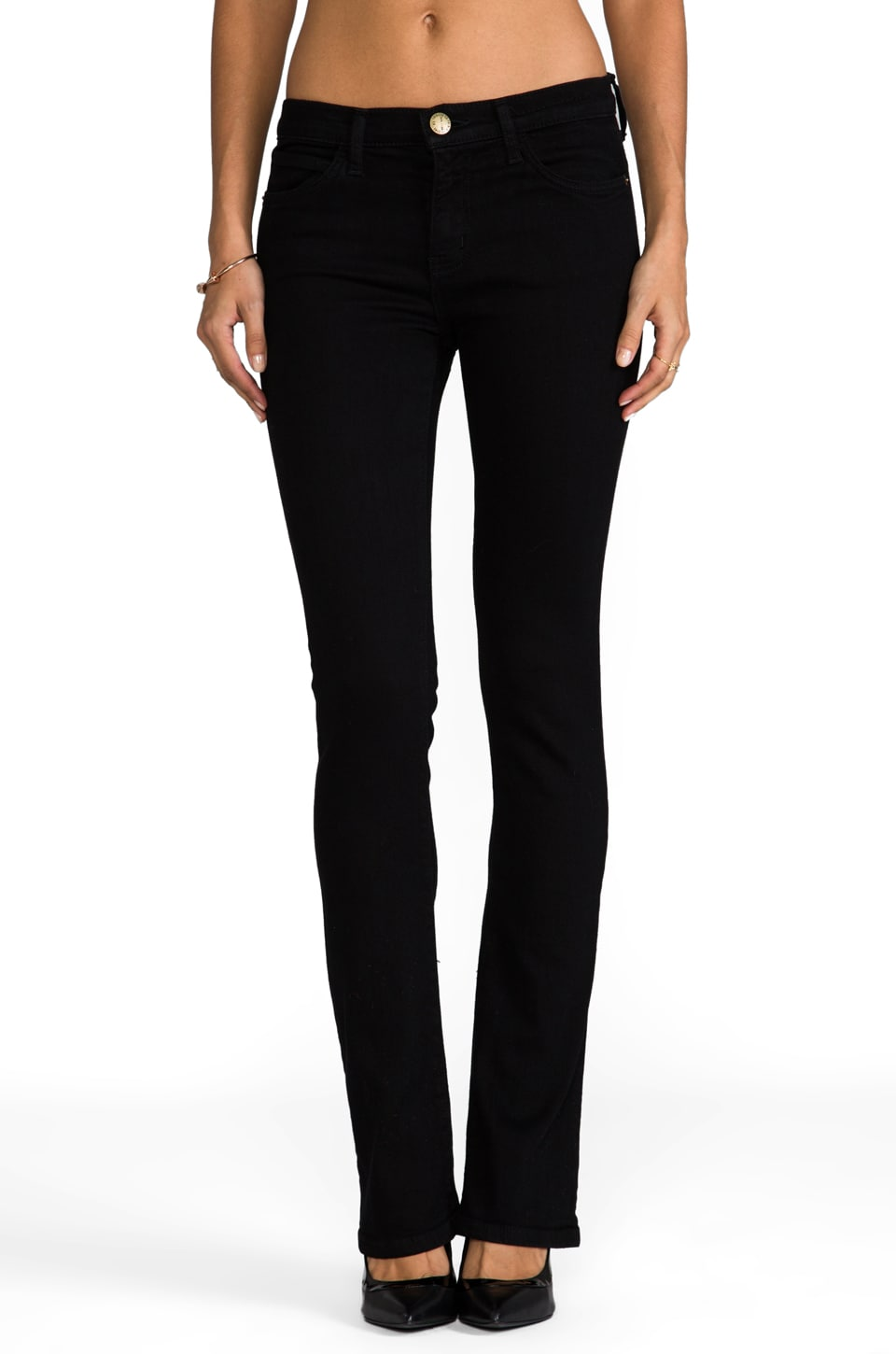 Current/Elliott Jean Slim Bootcut en Jet Black