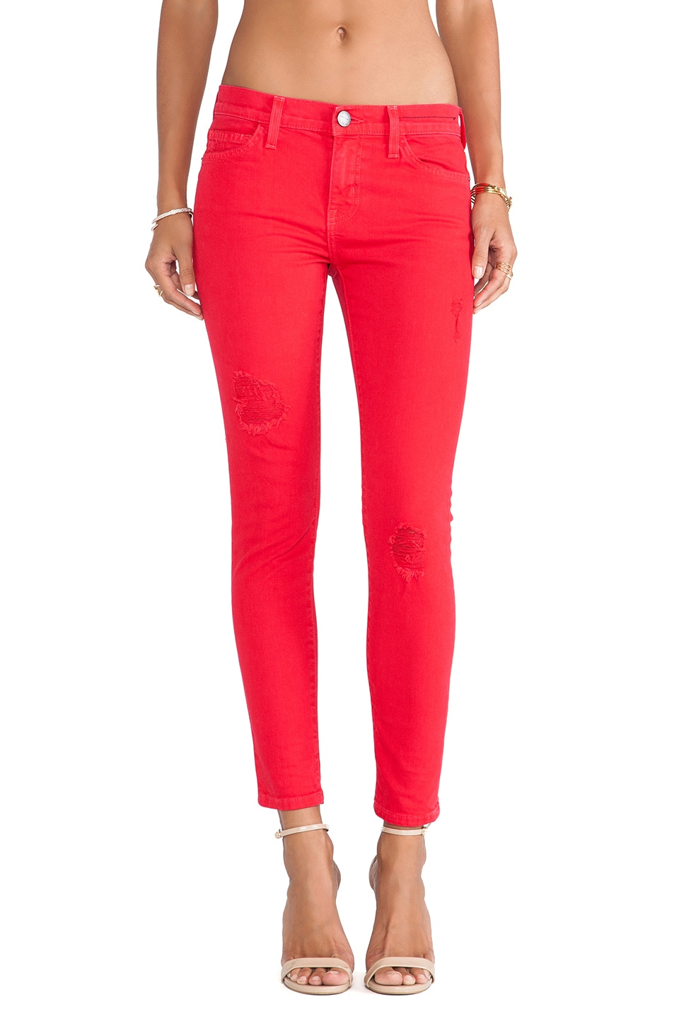 Current/Elliott The Stiletto Skinny in Victory Red