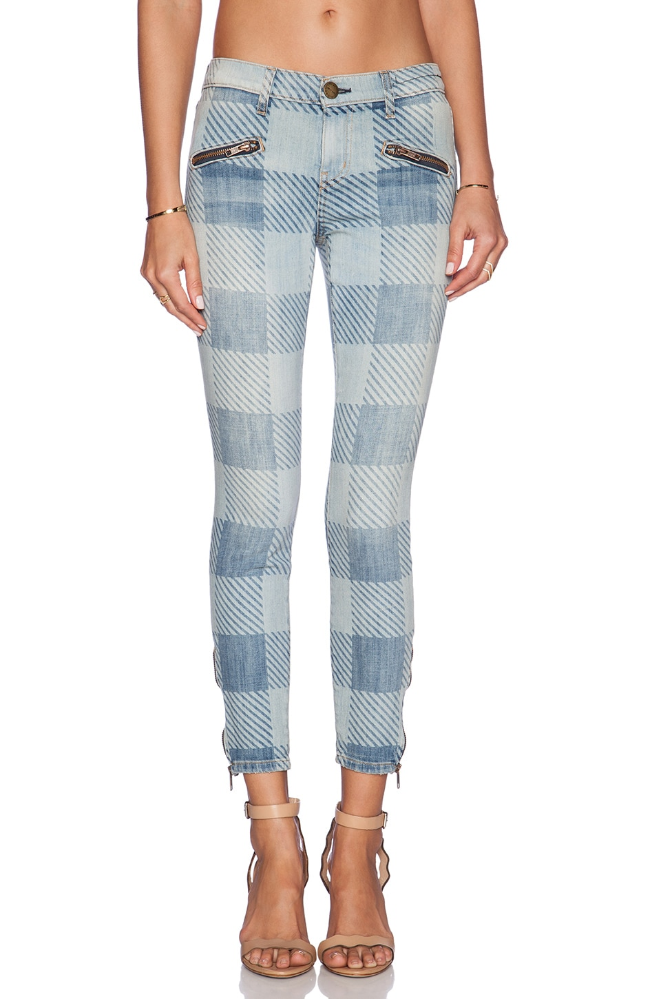 Current/Elliott The Soho Zip Stiletto in Discovery Plaid
