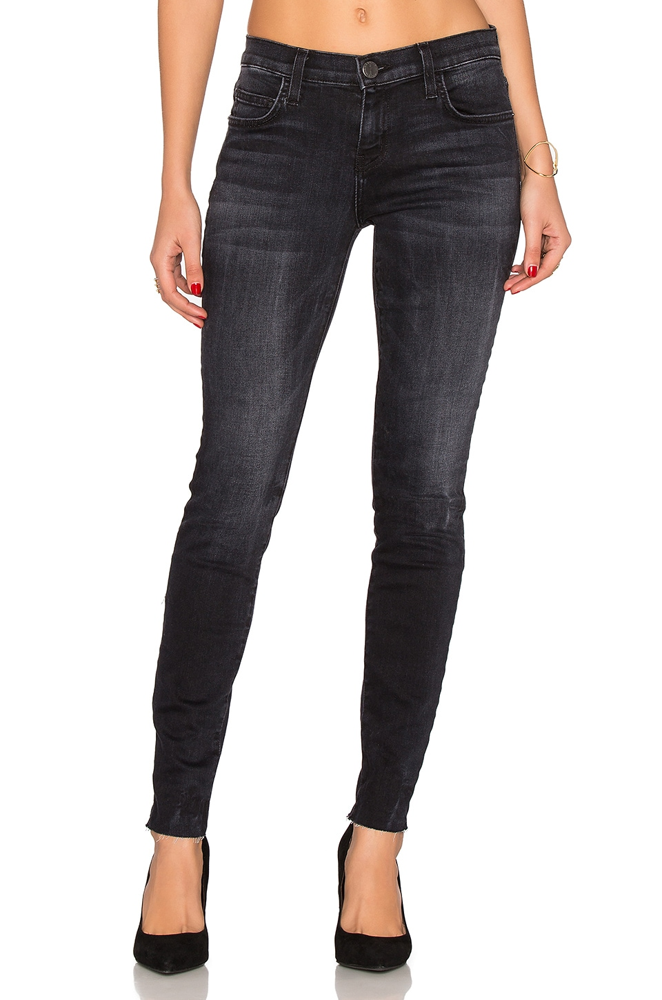 The Unfinished Hem Ankle Skinny by Current/Elliott