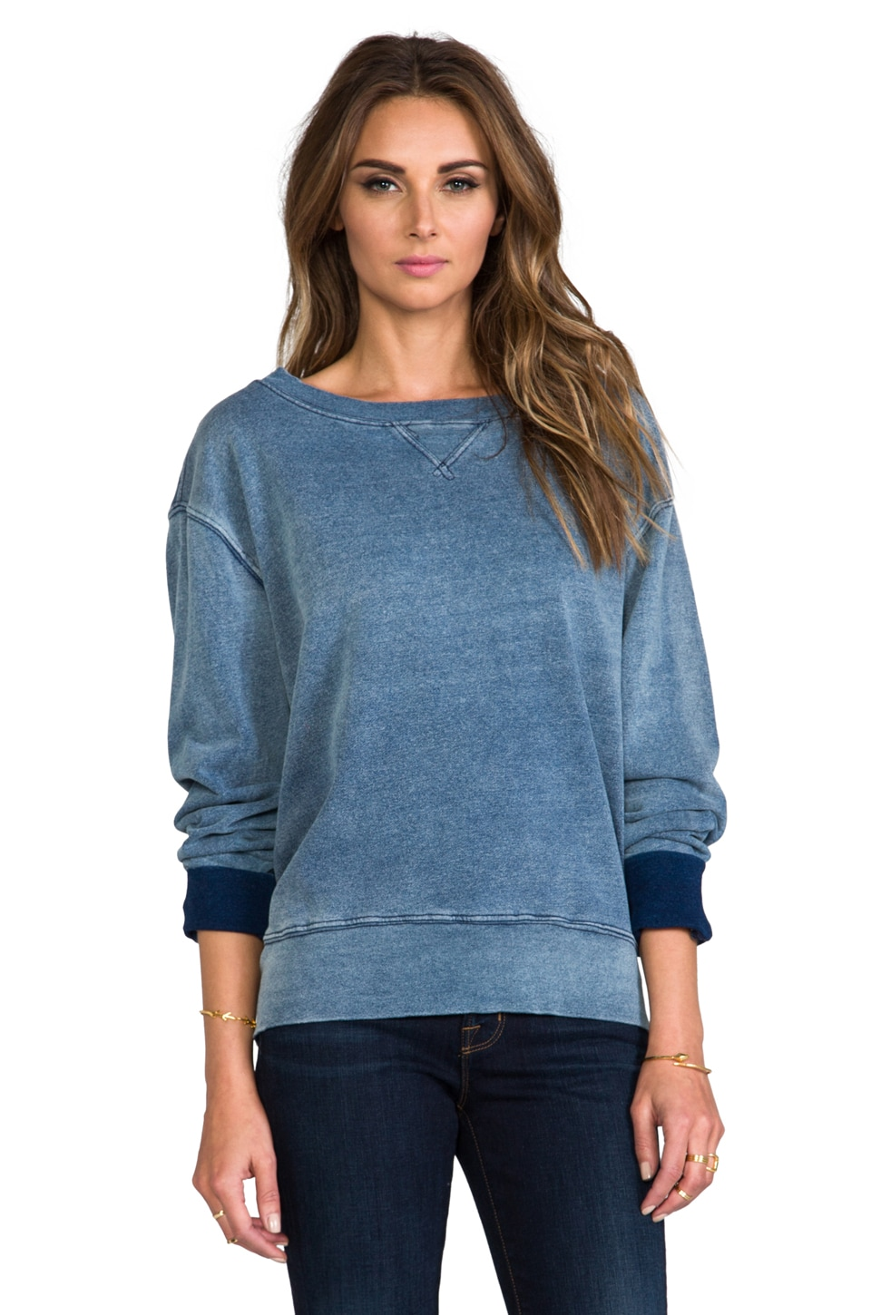 Current/Elliott The Stadium Sweatshirt in Indigo Fade
