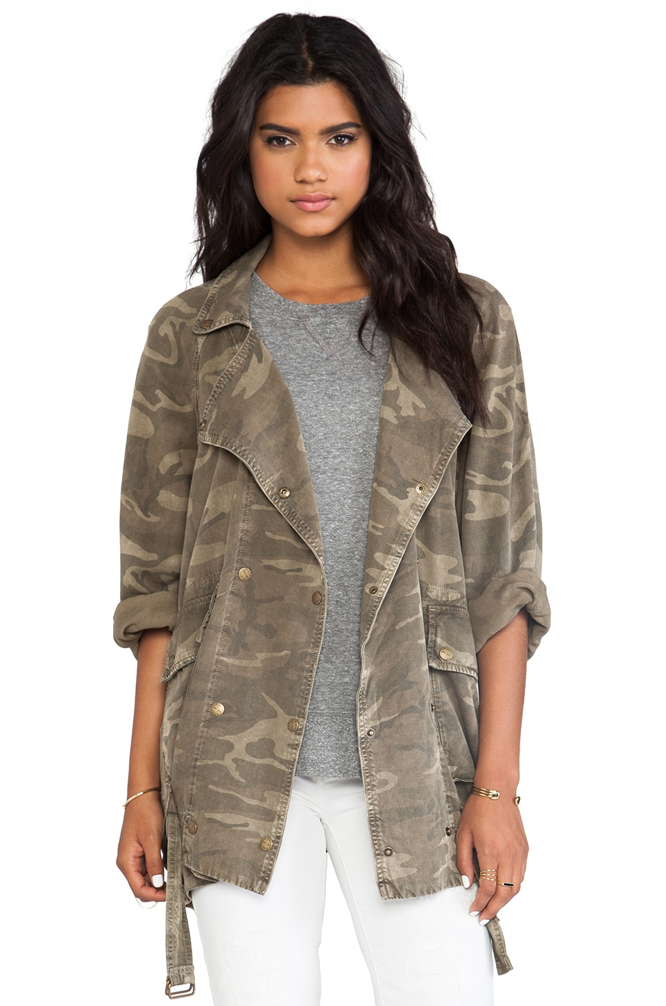 Current/Elliott The Infrantry Jacket in Army Camo