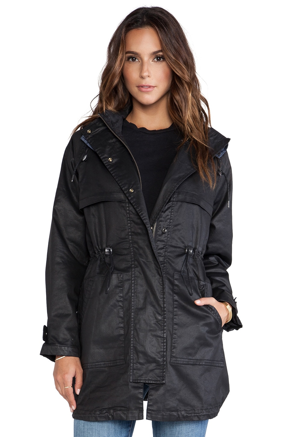 Current/Elliott The Bridgeport Parka in Black