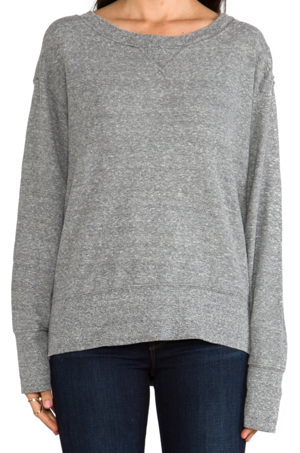 Current/Elliott Stadium Sweatshirt in Heather Grey