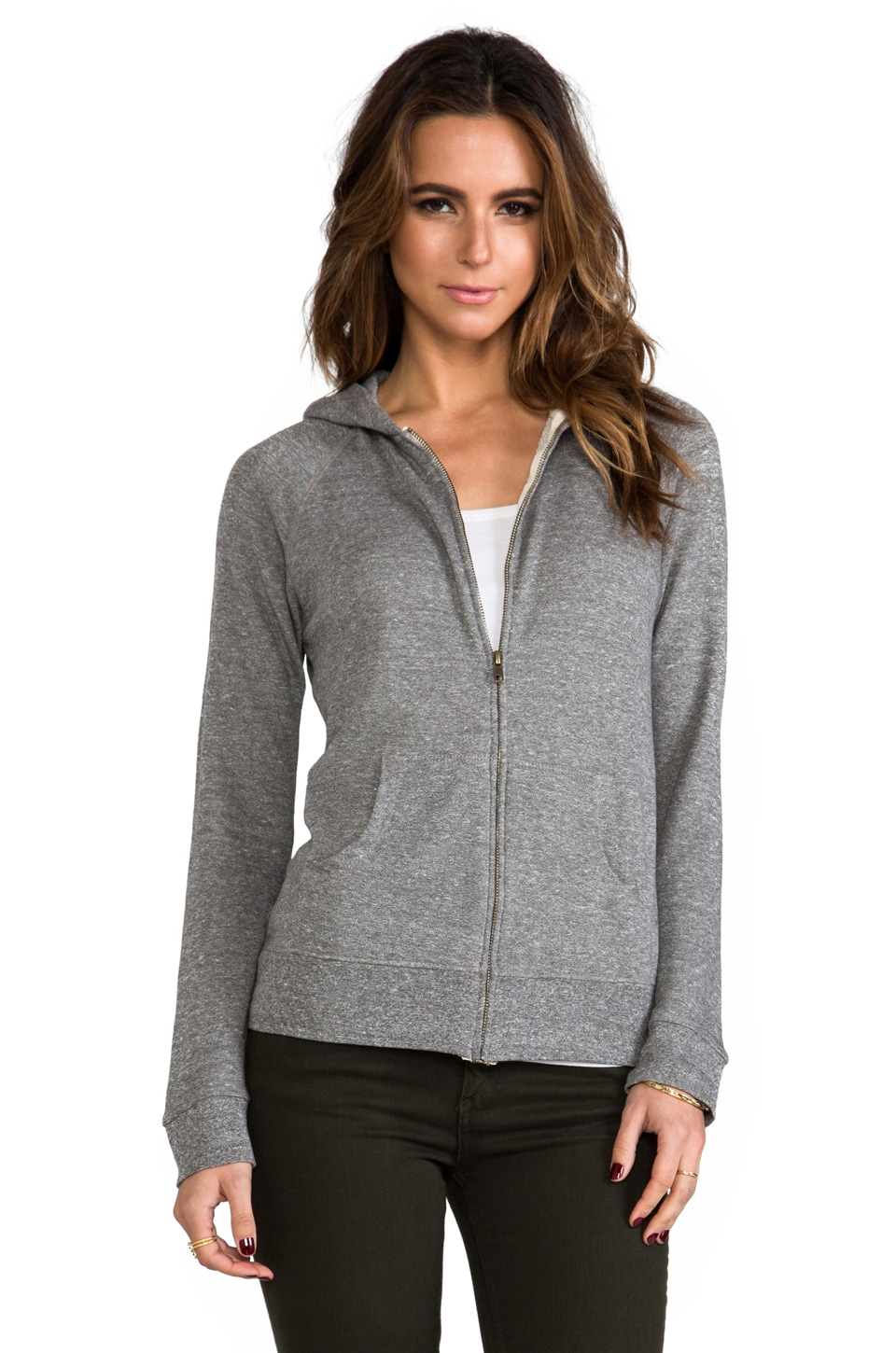 Current/Elliott The Hoodie in Heather Grey
