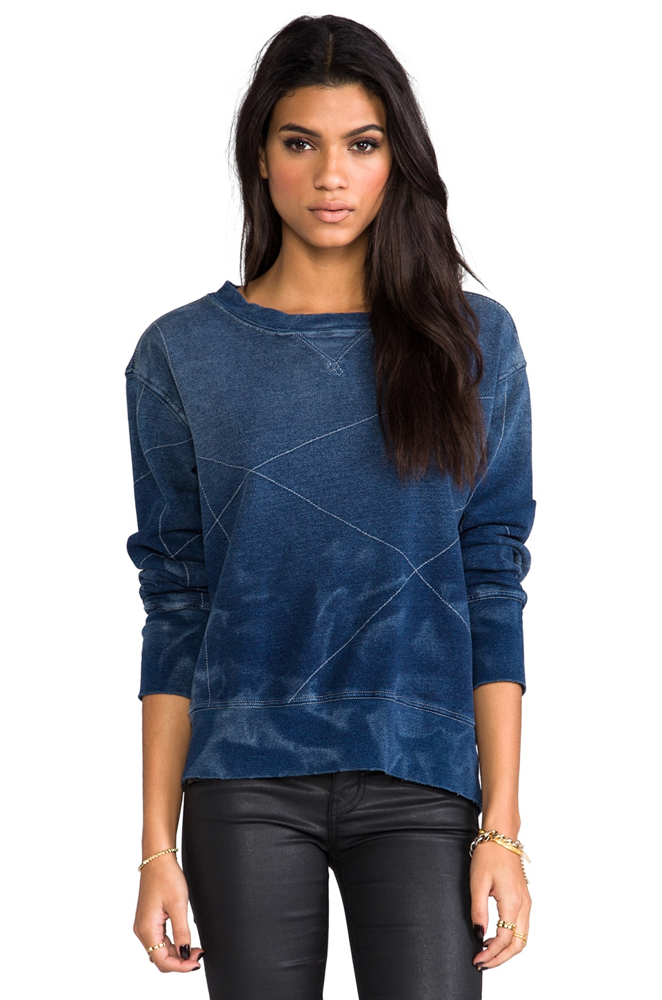 Current/Elliott The Stadium Sweatshirt in Stitched Indigo