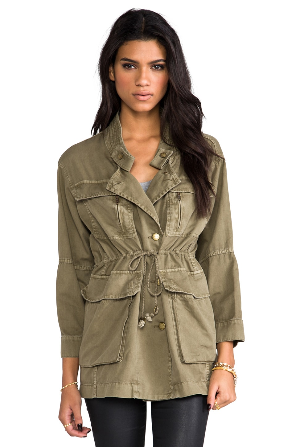 Current/Elliott The Military Parka in Army Green
