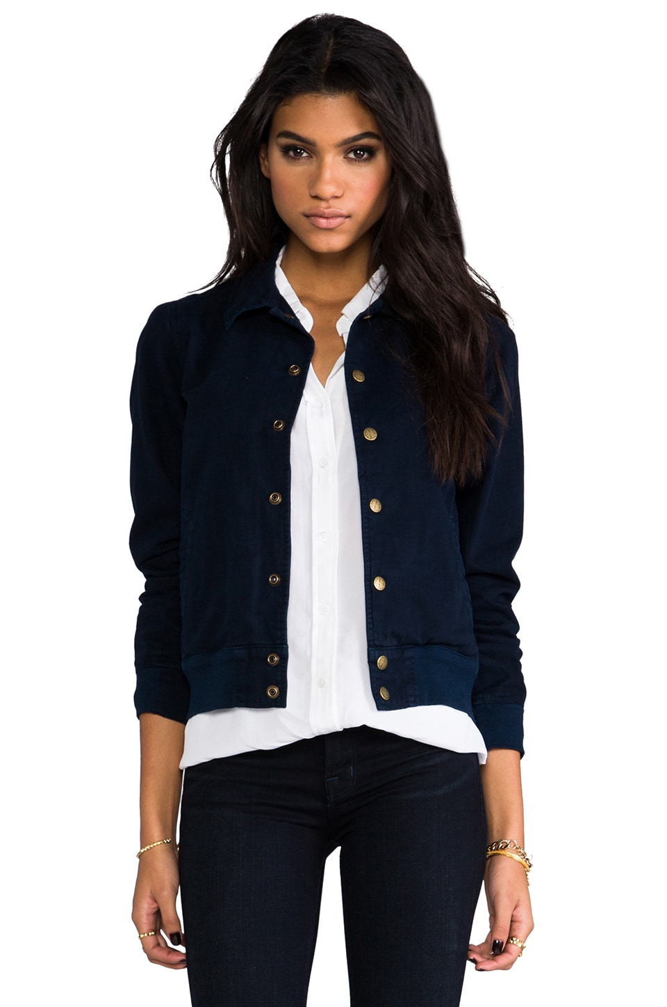 Current/Elliott EXCLUSIVITÉ Blouson Campus X The Blonde Salad en Marine
