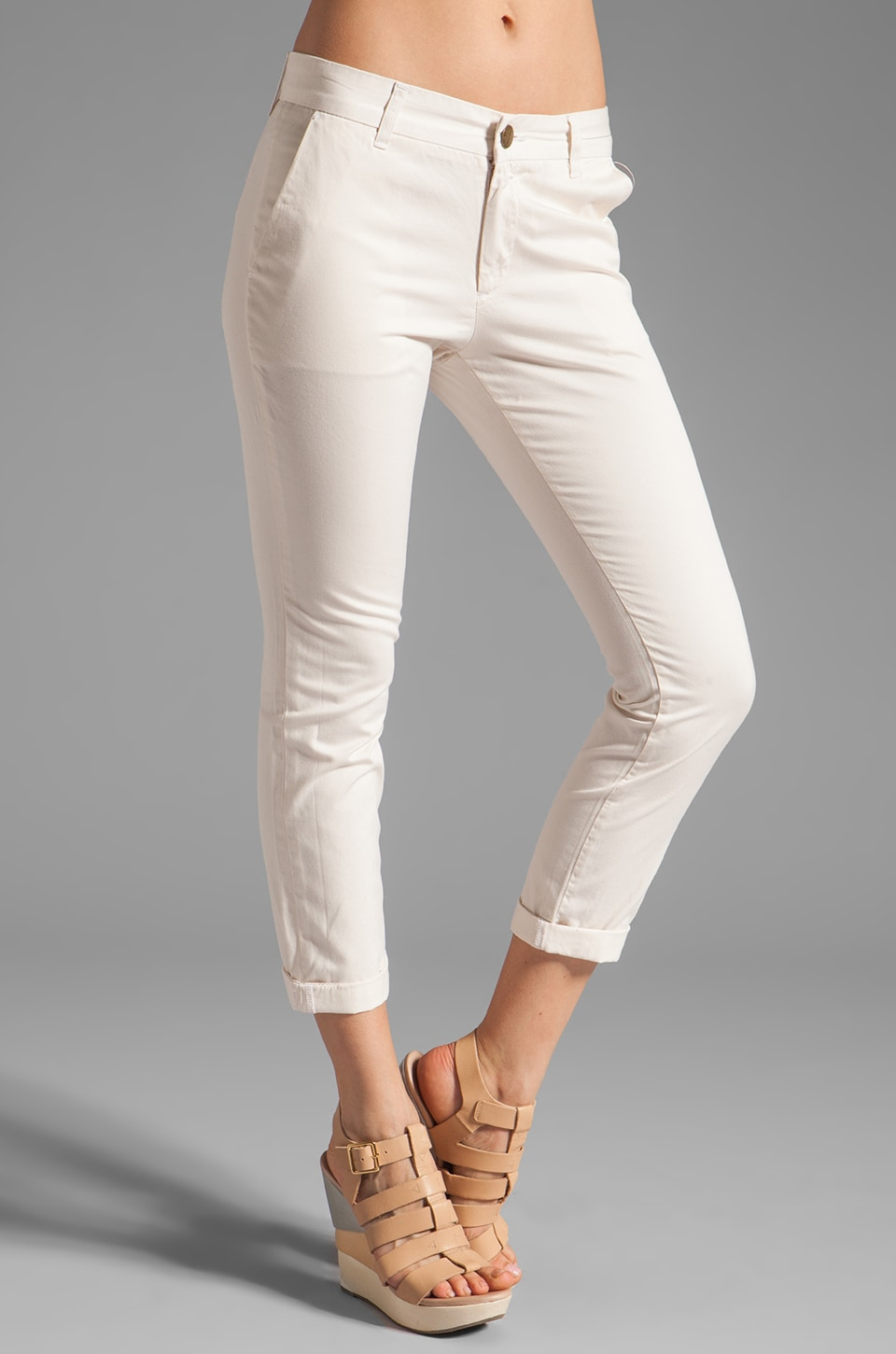 Current/Elliott The Buddy Trouser in Dirty White