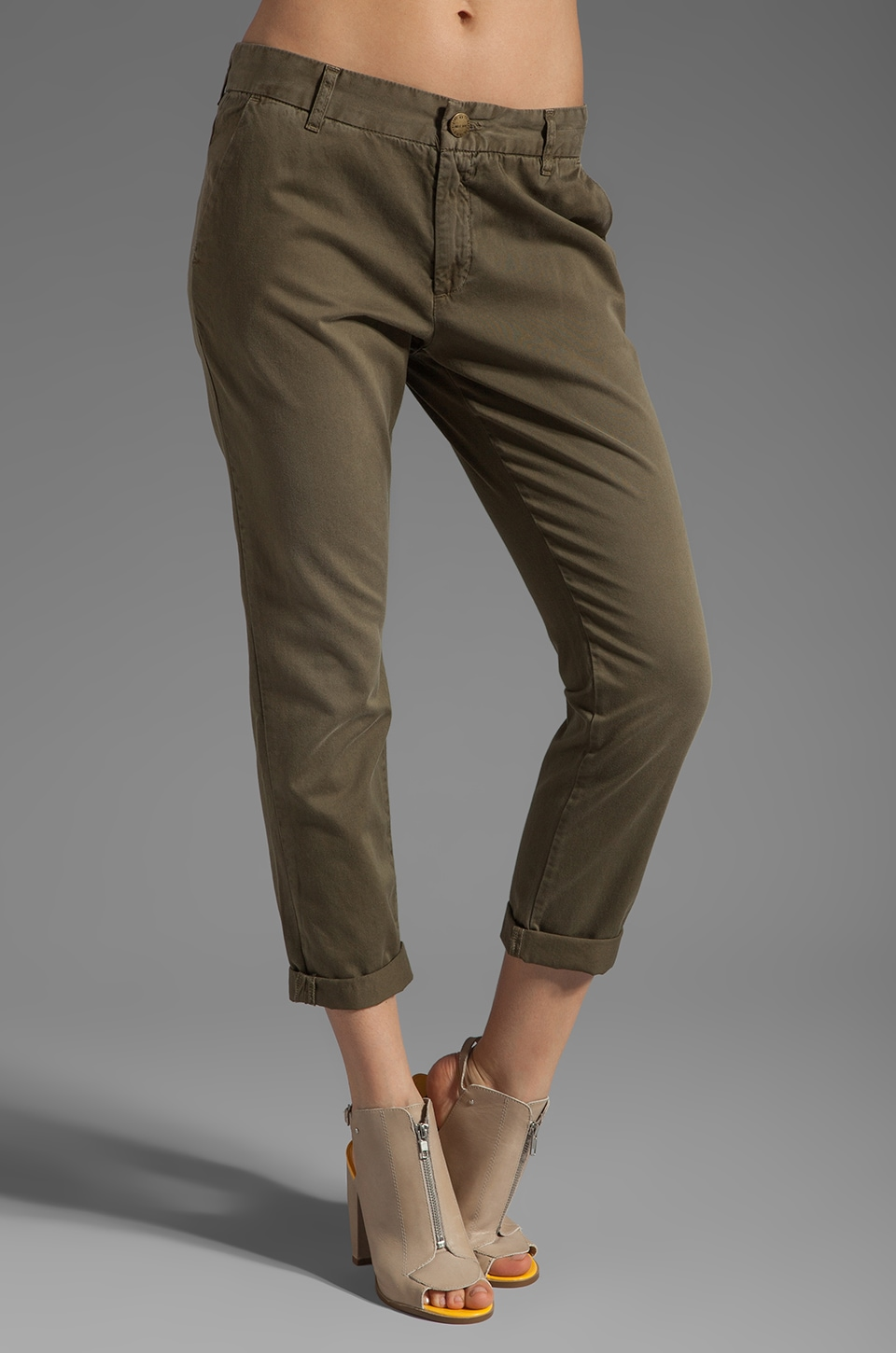 Current/Elliott The Buddy Trouser in Vintage Army