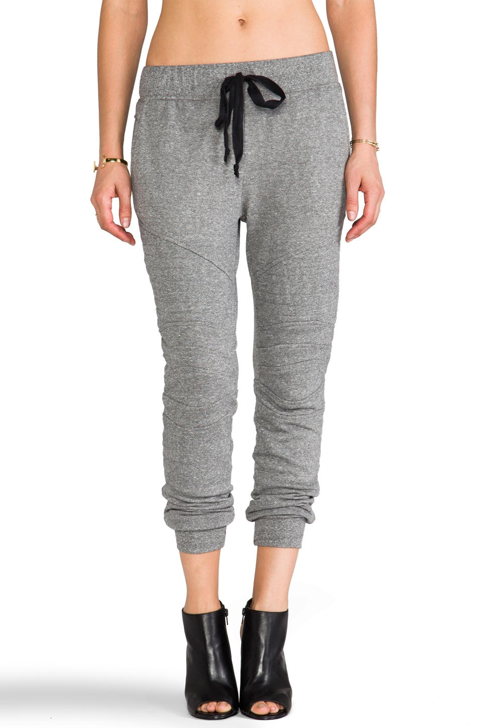 Current/Elliott The Moto Sweatpant in Heather Grey