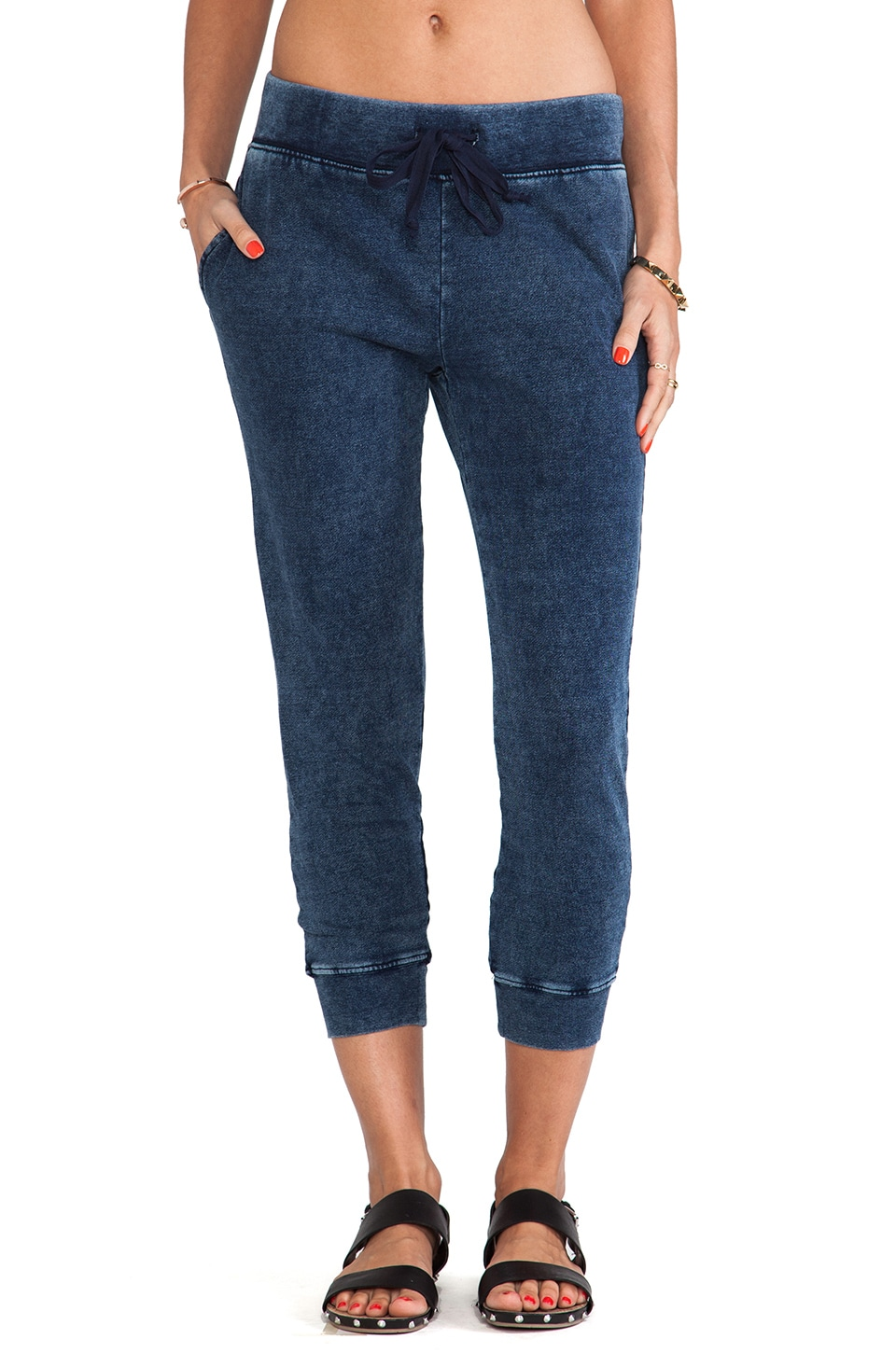Current/Elliott The Crop Sweatpant in Indigo Haze
