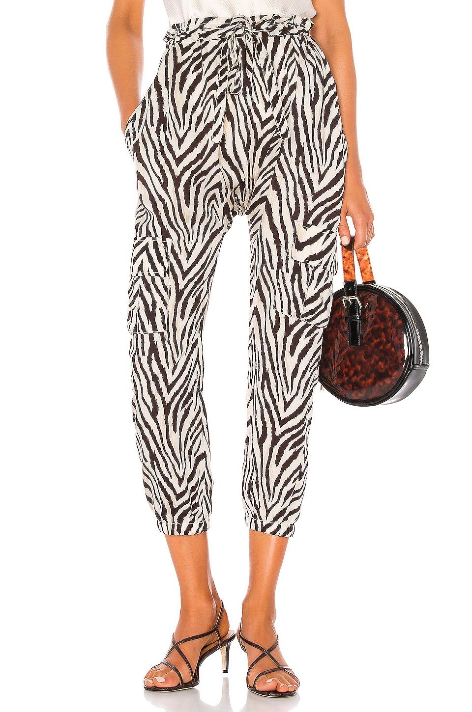 Current/Elliott Roxwell Pant in Natural Zebra Print