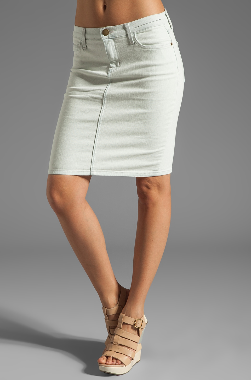 Current/Elliott The Pencil Skirt in Sun Bleached