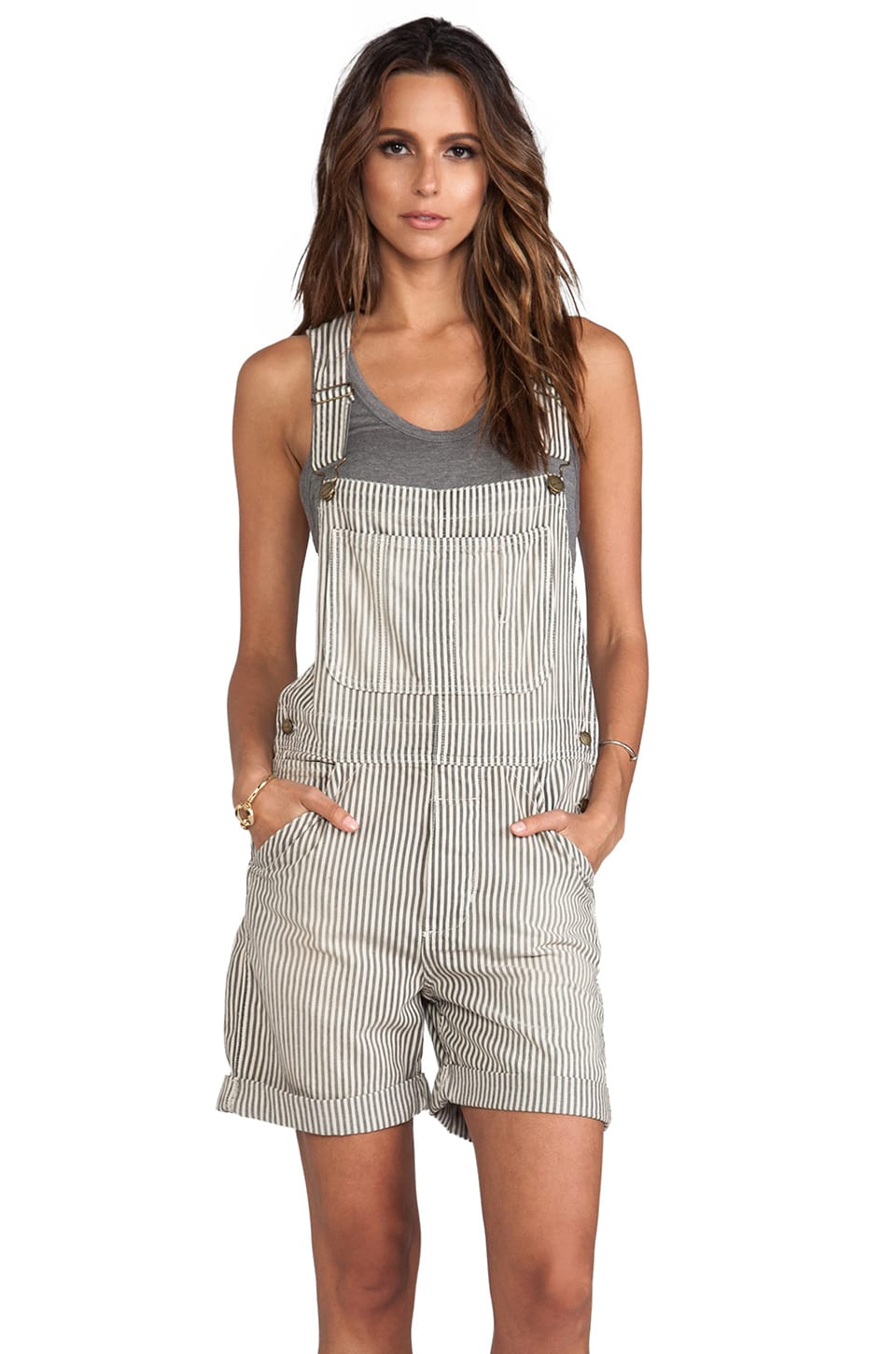 Current/Elliott The Shortall in Vintage Hickory Stripe