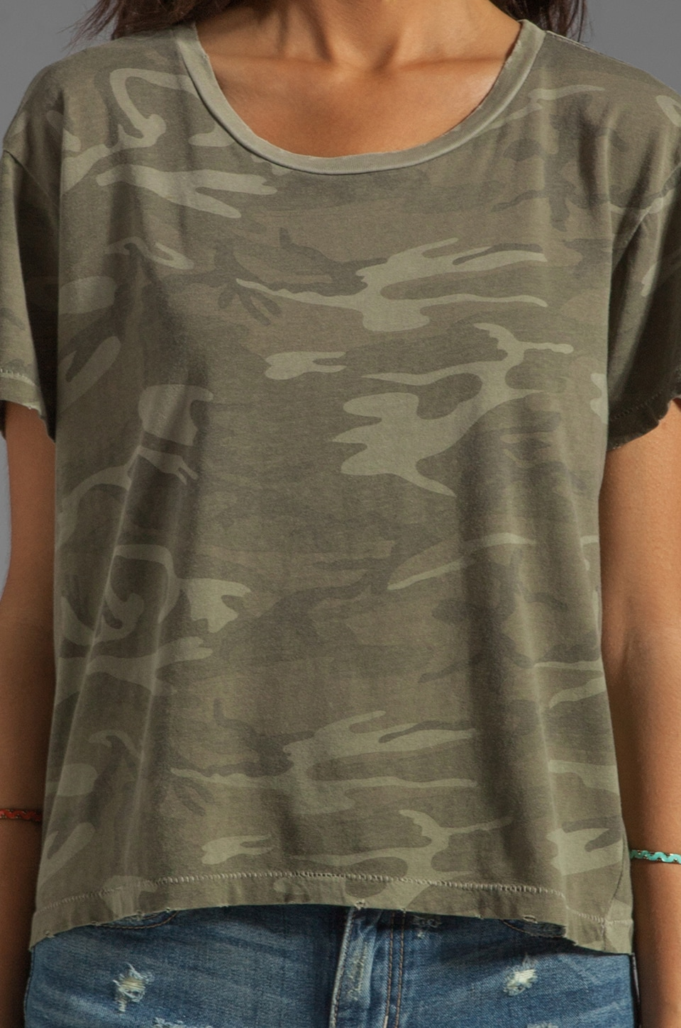 Current/Elliott The Freshman Tee in Army Camo