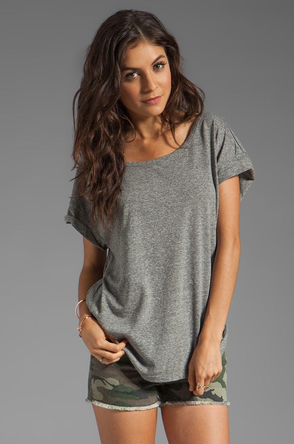 Current/Elliott The Oversize Tee in Heather Grey