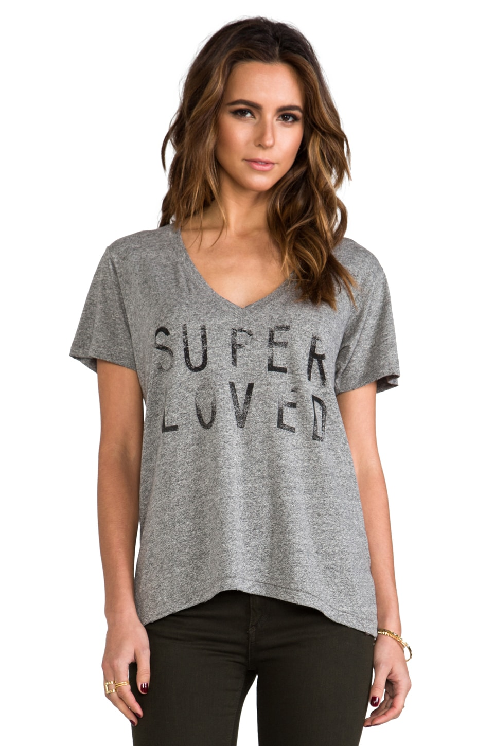 Current/Elliott T-shirt V en Heather Grey Super Loved