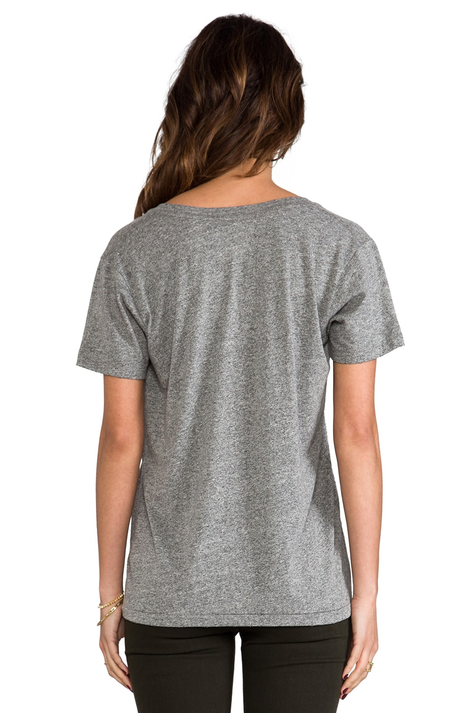 Current/Elliott The V Neck in Heather Grey Super Loved