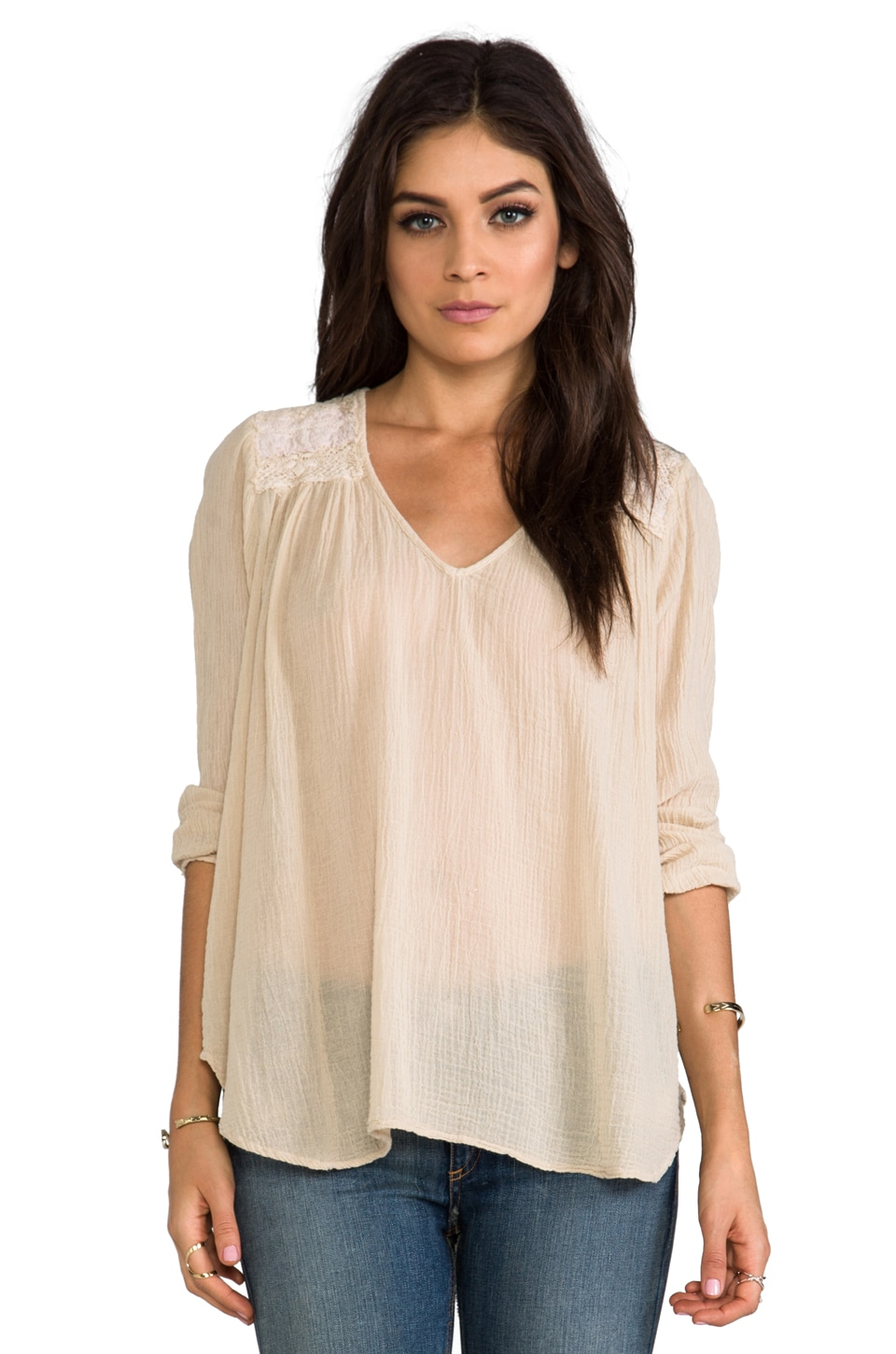 Current/Elliott The Picnic Shirt in Nude