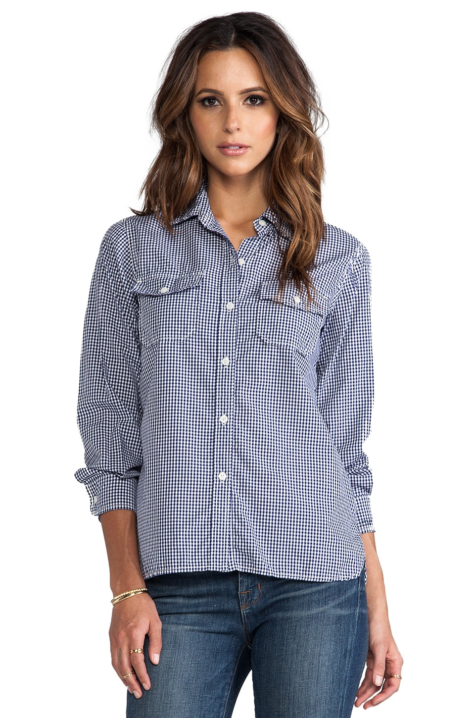 Current/Elliott The Perfect Shirt in Navy