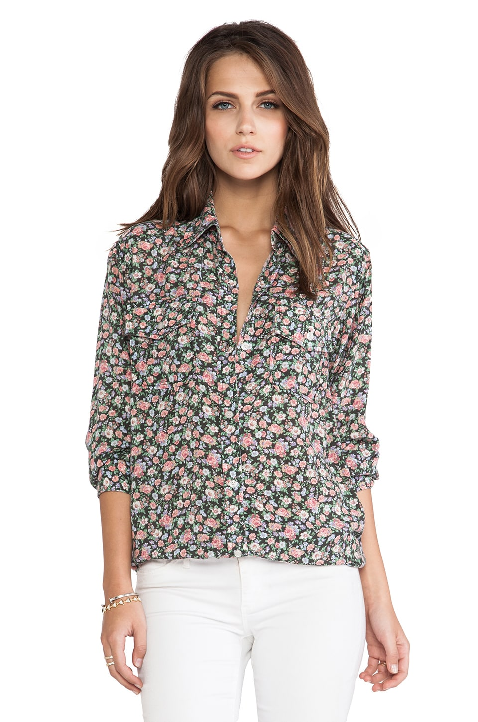 Current/Elliott The Perfect Shirt in 90's Floral