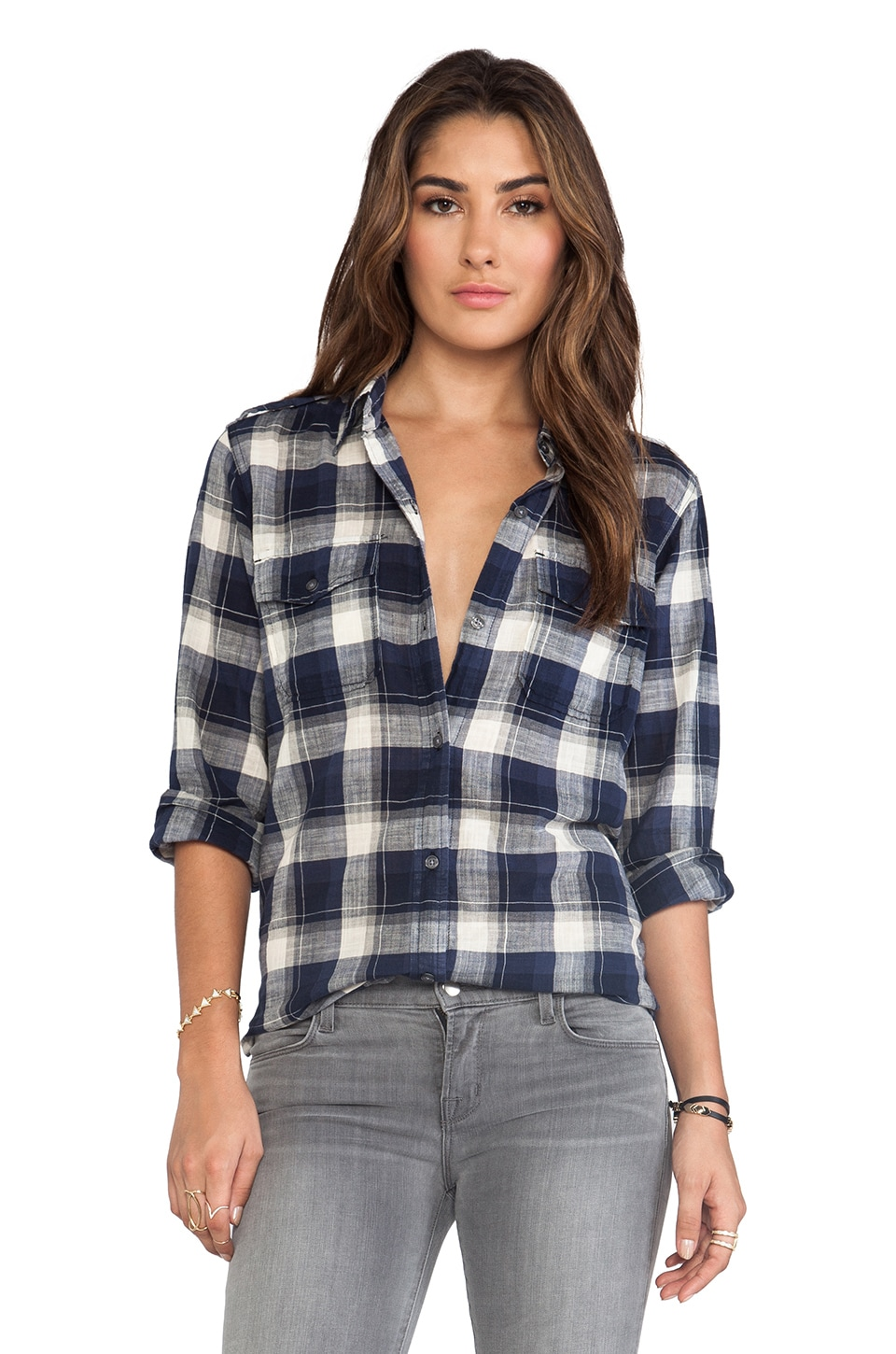 Current/Elliott The Perfect Shirt in Venice Plaid