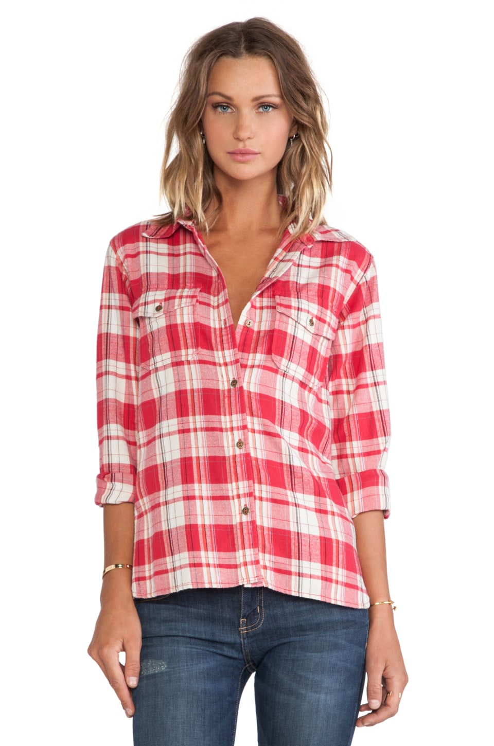 Current/Elliott The Perfect Shirt in Omaha Plaid