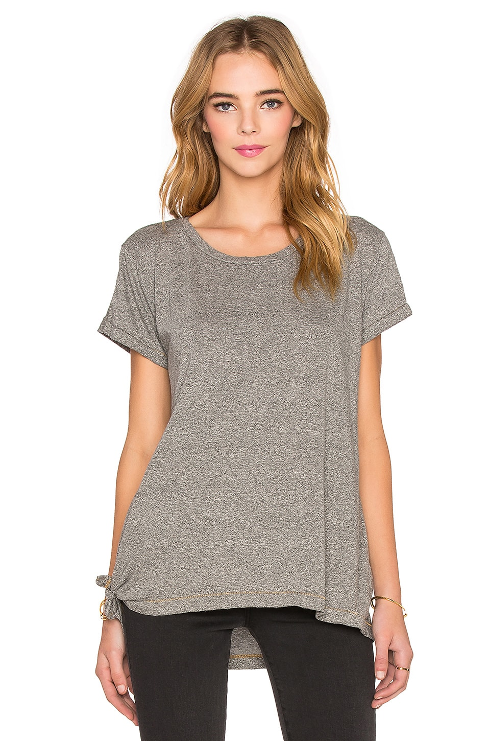 Current/Elliott The Wrap Tee in Heather Grey