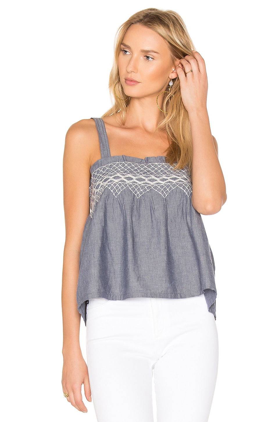 The Smocked Tank by Current/Elliott