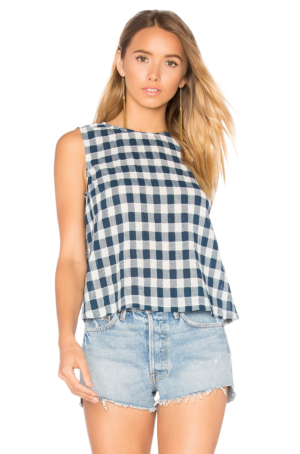 The Boxy Cropped Tank by Current/Elliott