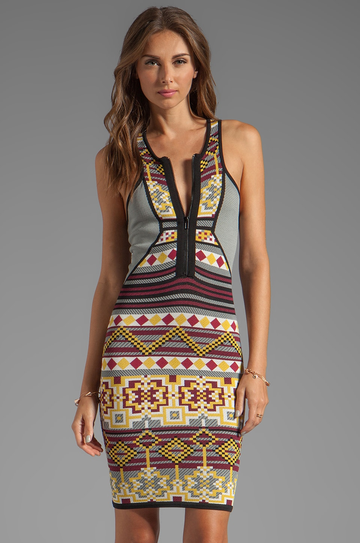 Cut25 by Yigal Azrouel Fair Isle Power Knit Dress in Solar Multi