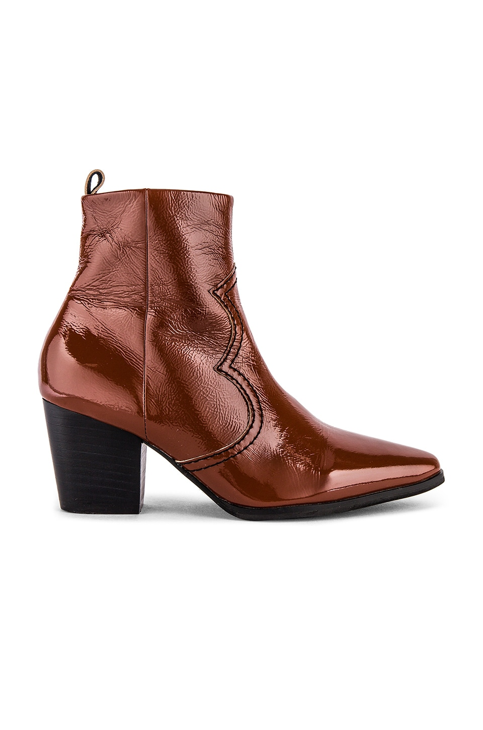 Caverley Western Bootie in Hickory