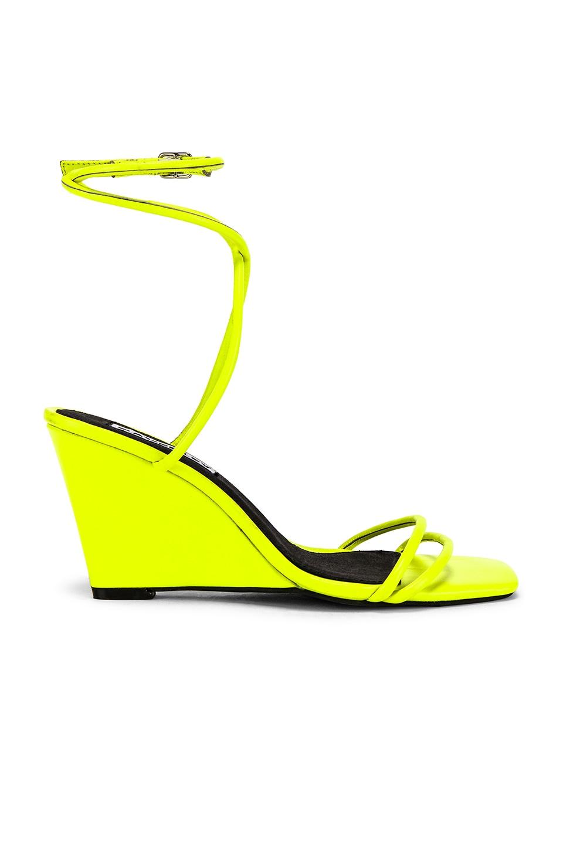 Caverley Chloe Wedge in Neon Yellow