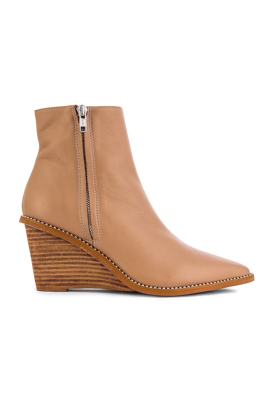 Caverley Robbie Wedge Boot in Taupe