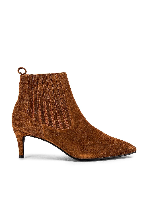 Caverley Sabrina Boot in Chestnut Suede