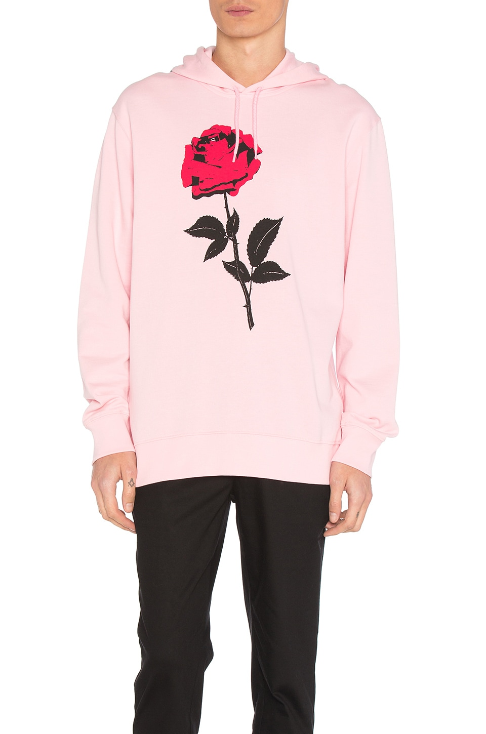 Carhartt WIP Radio Club L.A. Hooded Sweatshirt in Vegas Pink