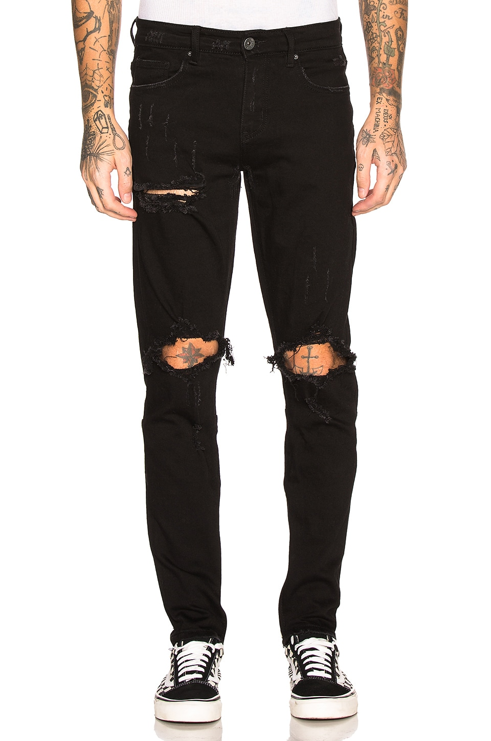Crysp Denim Pacific Ripped Jean in Black