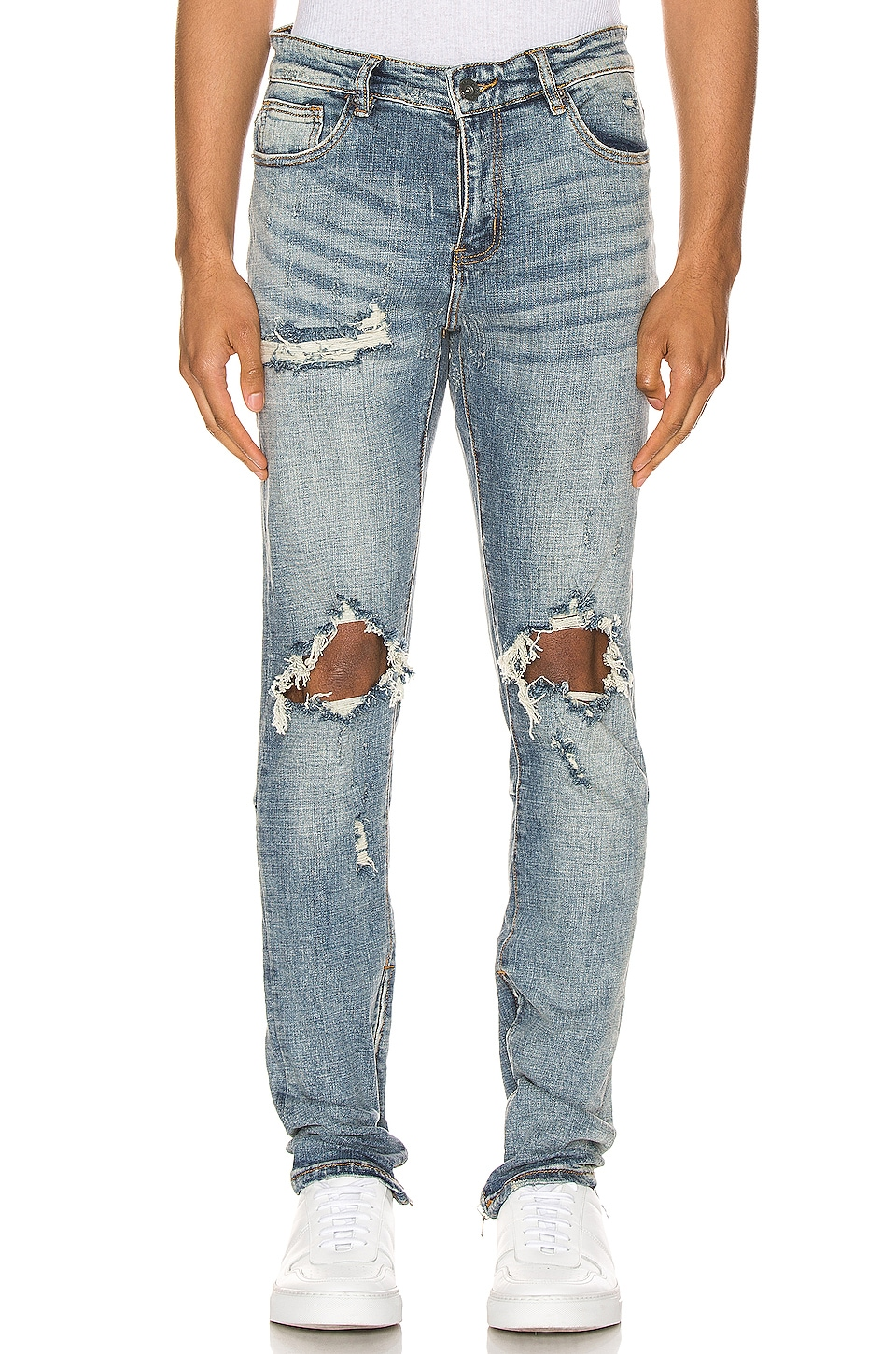 Crysp Denim Pacific Denim Jean in Blue Ripped