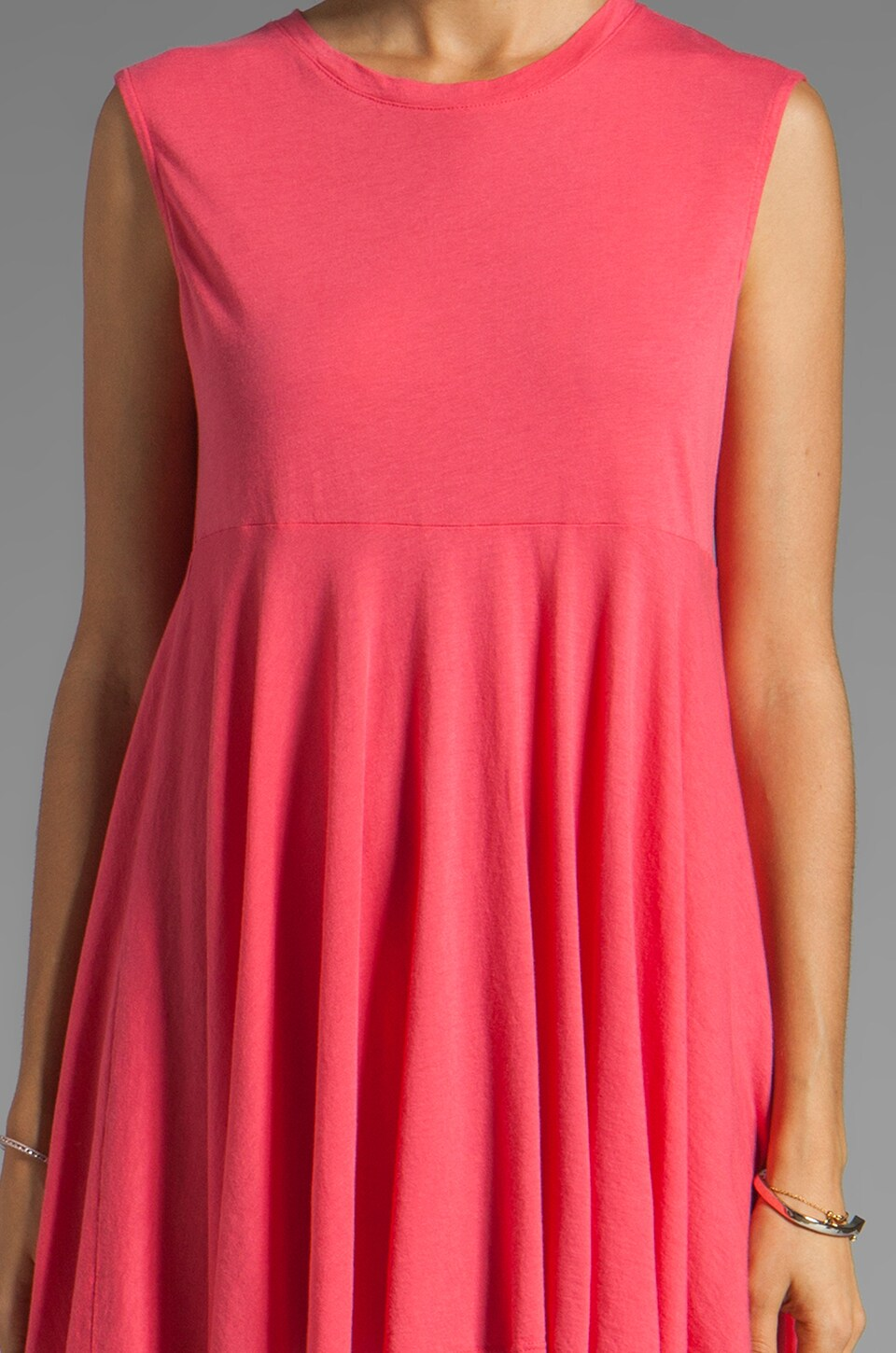 Daftbird Sleeveless Summer Dress in Cosmo